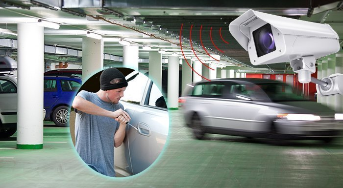 car thief car park camera